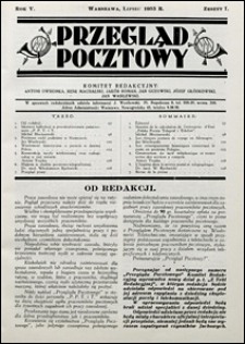 Przegląd Pocztowy 1935 nr 7