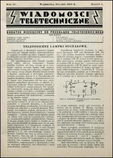 Wiadomości Teletechniczne 1935 nr 1