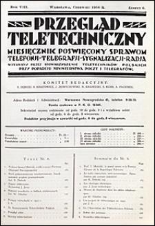 Przegląd Teletechniczny 1936 nr 6