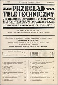 Przegląd Teletechniczny 1936 nr 12