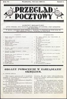 Przegląd Pocztowy 1936 nr 1
