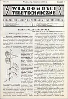 Wiadomości Teletechniczne 1936 nr 6
