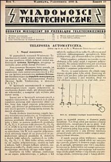 Wiadomości Teletechniczne 1936 nr 10