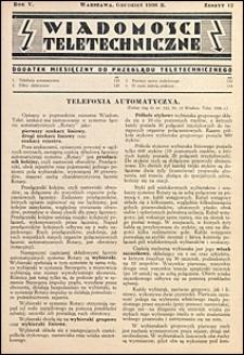 Wiadomości Teletechniczne 1936 nr 12