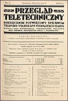 Przegląd Teletechniczny 1937 nr 4
