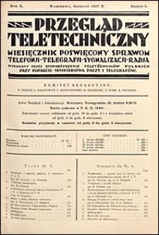 Przegląd Teletechniczny 1937 nr 8