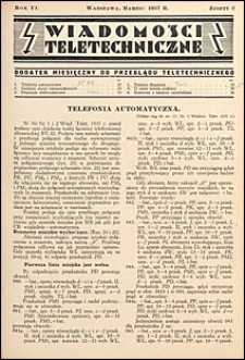 Wiadomości Teletechniczne 1937 nr 3