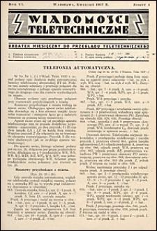 Wiadomości Teletechniczne 1937 nr 4