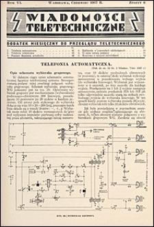 Wiadomości Teletechniczne 1937 nr 6