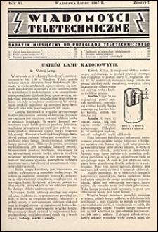 Wiadomości Teletechniczne 1937 nr 7