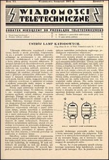 Wiadomości Teletechniczne 1937 nr 8
