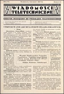 Wiadomości Teletechniczne 1937 nr 12