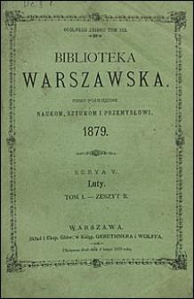 Biblioteka Warszawska 1879 t.1 z. 2