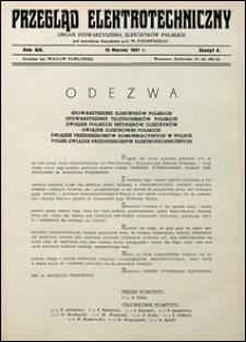 Przegląd Elektrotechniczny 1937 nr 6