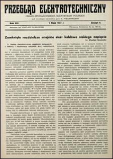 Przegląd Elektrotechniczny 1937 nr 9