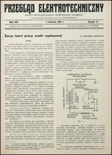 Przegląd Elektrotechniczny 1937 nr 11