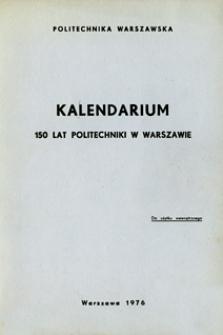 150 lat Politechniki Warszawskiej : kalendarium