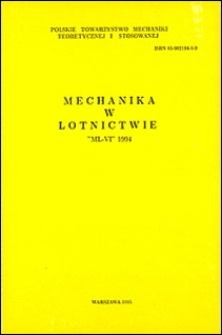"""Mechanika w lotnictwie """"ML-VI"""" 1994"""