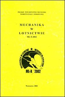 Mechanika w lotnictwie : ML-X 2002