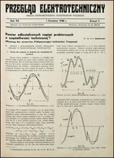 Przegląd Elektrotechniczny 1938 nr 7