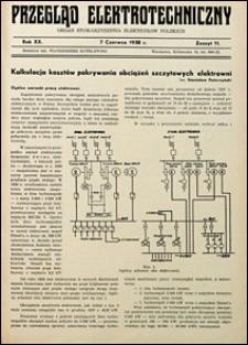 Przegląd Elektrotechniczny 1938 nr 11