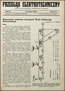 Przegląd Elektrotechniczny 1938 nr 16