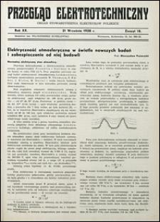 Przegląd Elektrotechniczny 1938 nr 17