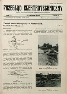 Przegląd Elektrotechniczny 1938 nr 22