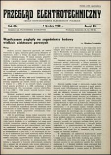 Przegląd Elektrotechniczny 1938 nr 23