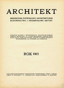 Architekt. 1903 Index