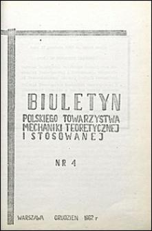 Biuletyn Polskiego Towarzystwa Mechaniki Teoretycznej i Stosowanej 1962 nr 4