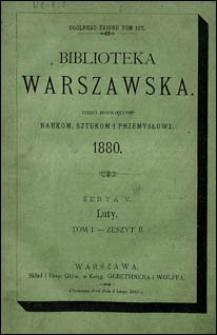 Biblioteka Warszawska 1880 t. 1 z. 2