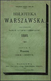 Biblioteka Warszawska 1880 t. 3 z. 9