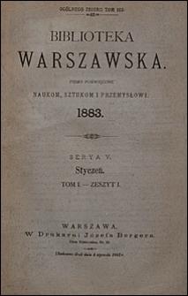 Biblioteka Warszawska 1883 t. 1 z. 1