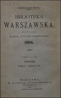 Biblioteka Warszawska 1884 t. 2 z. 6