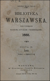 Biblioteka Warszawska 1885 t. 1 z. 2
