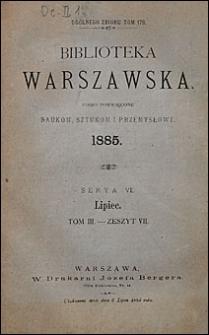 Biblioteka Warszawska 1885 t. 2 z. 6