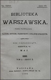Biblioteka Warszawska 1890 t. 2 z. 2