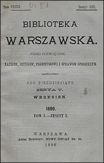 Biblioteka Warszawska 1890 t. 3 z. 3