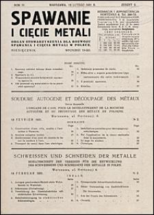 Spawanie i Cięcie Metali 1931 nr 2