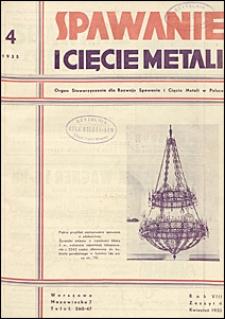 Spawanie i Cięcie Metali 1935 nr 4