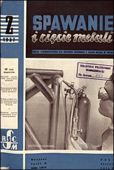Spawanie i Cięcie Metali 1937 nr 2