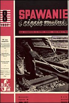 Spawanie i Cięcie Metali 1937 nr 8