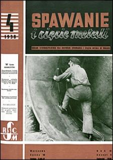 Spawanie i Cięcie Metali 1938 nr 4