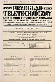 Przegląd Teletechniczny 1938 nr 5