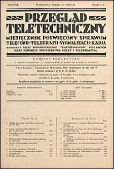 Przegląd Teletechniczny 1938 nr 6
