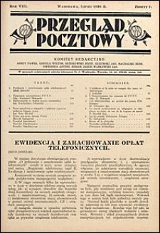 Przegląd Pocztowy 1938 nr 7