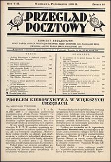 Przegląd Pocztowy 1938 nr 10