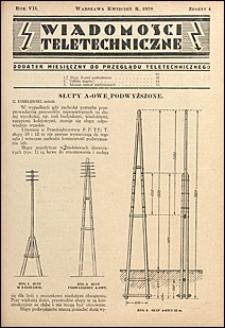Wiadomości Teletechniczne 1938 nr 4