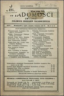 Wiadomości Związku Polskich Zrzeszeń Technicznych 1925 nr 3-5